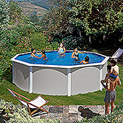 POOLSET FEELING     3,50m X 1,32m GRAU
