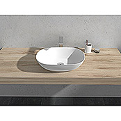 Camargue Lavabo Estanyol (An x L: 50 x 35 cm, Solid Surface, Blanco)