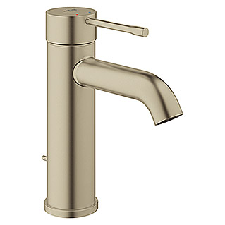 Grohe Essence New Waschtischarmatur S-Size (Mit Zugstange, Nickel, Matt)