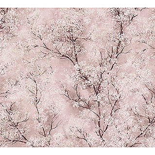 AS Creation New Walls Vliestapete Bäume (Rosa, Floral, 10,05 x 0,53 m)