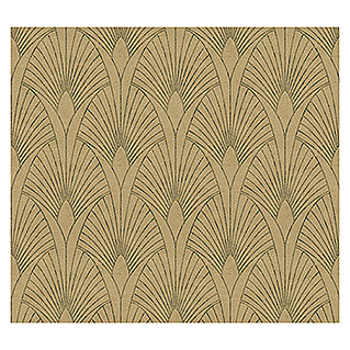 AS Creation New Walls Vliestapete Art Deco (Gold, Grafisch, 10,05 x 0,53 m)
