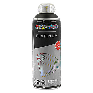 Dupli-Color Platinum Buntlack-Spray RAL 9005 (Tiefschwarz, 400 ml, Seidenmatt)
