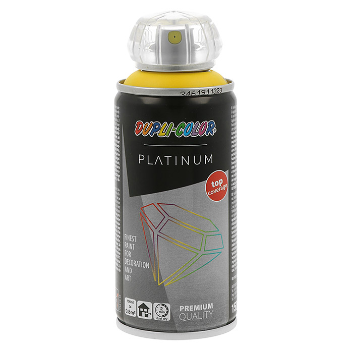 Dupli-Color Platinum Buntlack-Spray RAL 1023 (Verkehrsgelb, 150 ml, Seidenmatt)