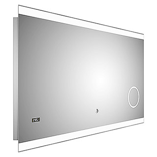 LED-Lichtspiegel Silver Shine 2.0 (120 x 70 cm, Touchsensor)