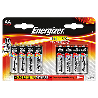 Energizer Batterie Max (Mignon AA, 1,5 V, 8 Stk.)
