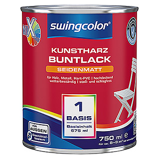 swingcolor Mix Buntlack (Basismischfarbe, 750 ml, Seidenmatt)