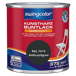 swingcolor Buntlack (Anthrazit, 375 ml, Seidenmatt)