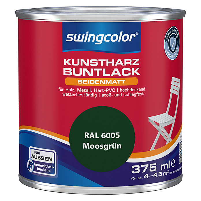 swingcolor Buntlack (Moosgrün, 375 ml, Seidenmatt)