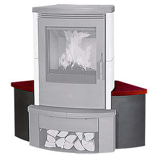 Fireplace Ofensitzbank Passat Novo (Eckbank, Bordeaux)