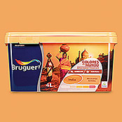 Bruguer Colores del Mundo Pintura para paredes India melocotón natural (4 l, Mate)