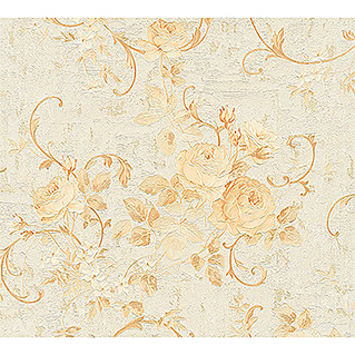 AS Creation Romantico Vliestapete Rosenranke (Gold, Floral, 10,05 x 0,53 m)