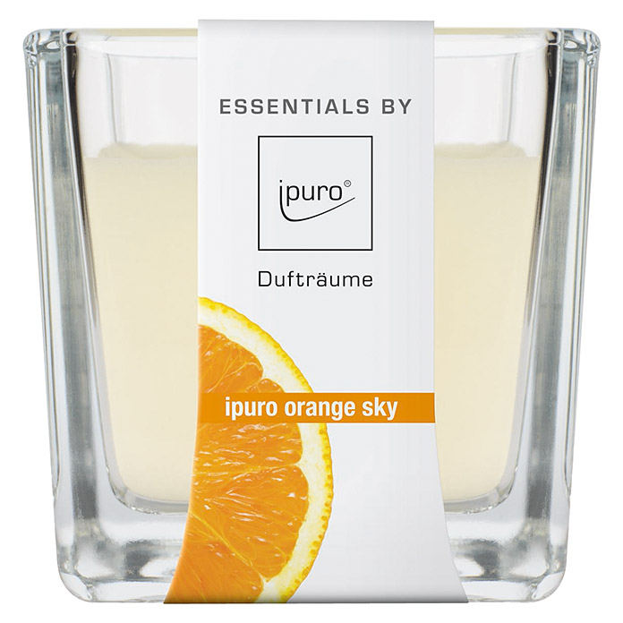 Ipuro Essentials Duftkerze (Im Glas, Orange Sky, 125 g)