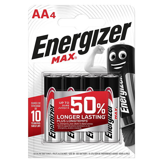 Energizer Batterie Max AA (Mignon AA, 1,5 V, 4 Stk.)