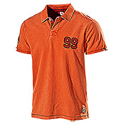 PIQUE-SHIRT  6005B  ORANGE GR. S