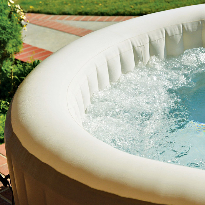 Intex Whirlpool Pure Spa 77 Bubble Therapy (Durchmesser: 196 cm, Höhe: 71 cm, 0,8 m³)