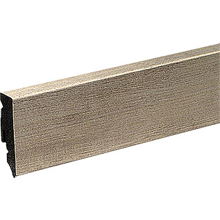 Profiles and more Sockelleiste KU51L Sherwood Eiche Grau (2,4 m x 15 mm x 50 mm, Gerade)