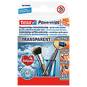 Tesa Powerstrips Selbstklebestrip Transparent Large (8 Stk.)