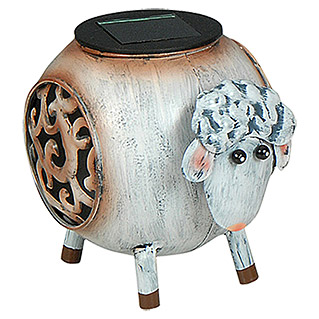 BAUHAUS Solarleuchte Sheep (1 LED Weiß, IP44, Metall)
