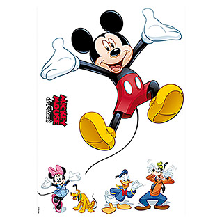 Komar Disney Edition 4 Dekosticker Mickey & Friends (6-tlg., Bunt)