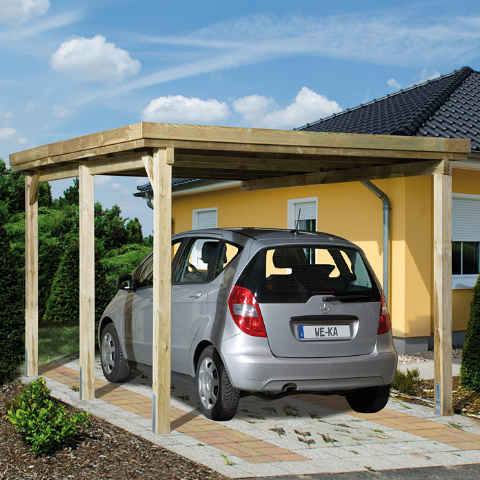 weka carport optima 5 12 x 3 22 m einfahrtsh he 2 15 m schneelast 1 25 kn m bauhaus. Black Bedroom Furniture Sets. Home Design Ideas
