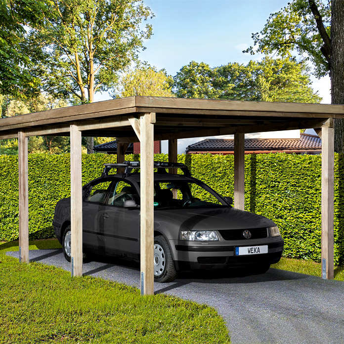 weka carport optima 6 12 x 3 22 m einfahrtsh he 2 15 m schneelast 1 25 kn m bauhaus. Black Bedroom Furniture Sets. Home Design Ideas