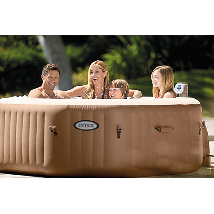 Intex pure spa whirlpool 79 octagon durchmesser 201 cm h he 71 cm fassun - Spa gonflable 200 euros ...