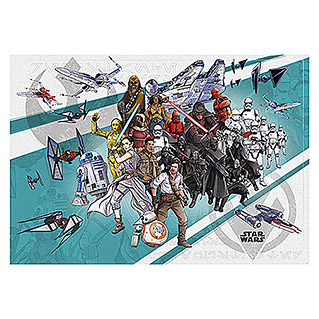 Komar Star Wars Fototapete Cartoon Collage Wide (8-tlg., 400 x 280 cm, Vlies)