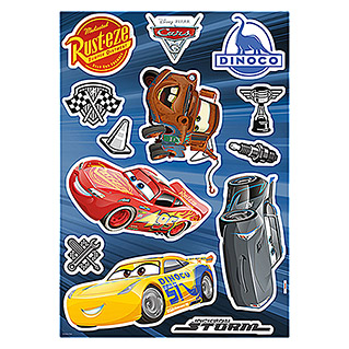 Komar Disney Edition 4 Dekosticker Cars S3 (13-tlg., Bunt)