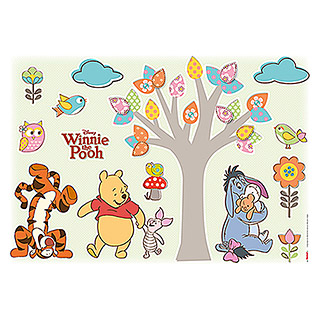 Komar Disney Edition 4 Dekosticker Winnie Pooh Nature Lovers (14-tlg., Bunt)