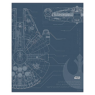 Komar Star Wars Wandbild Blueprint Falcon (30 x 40 cm, Vlies)