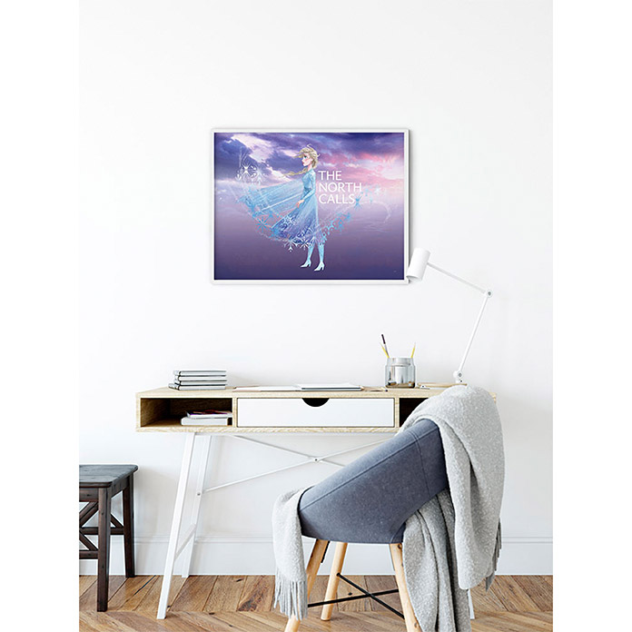 Komar Disney Edition 4 Wandbild Frozen The North Calls (40 x 30 cm, Vlies)