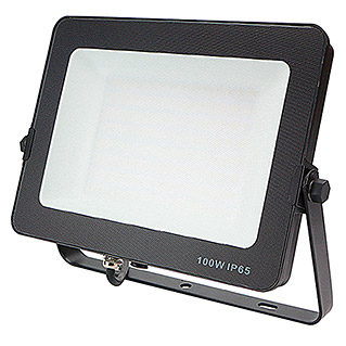 Led Hispania Proyector de LED FLHAK luz neutra (Negro, 100 W, IP65)