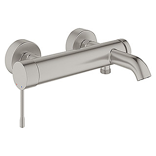 Grohe Essence Badewannenarmatur (Supersteel, Matt)