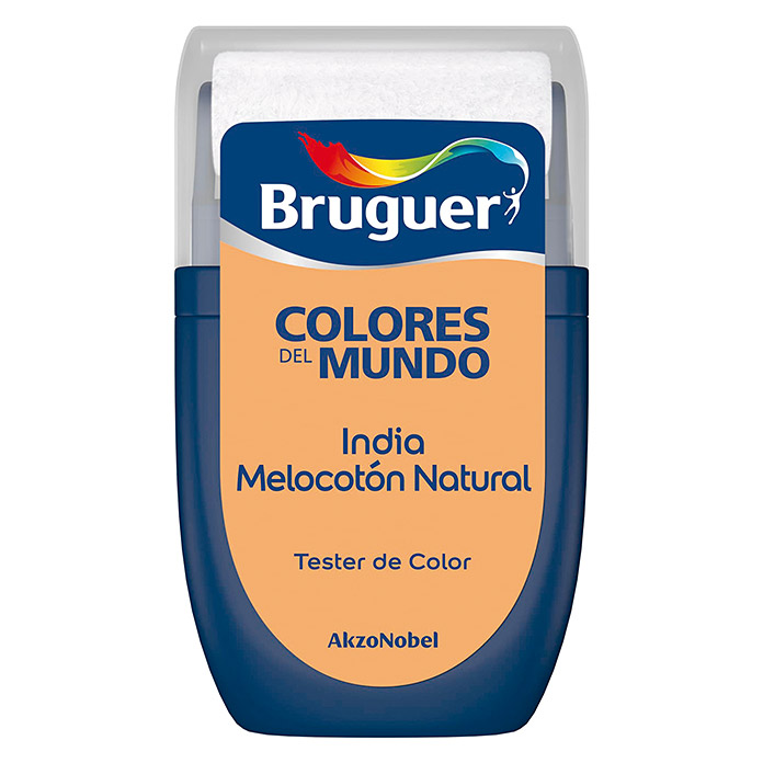 Bruguer Colores del Mundo Tester de pintura India melocotón natural (30 ml, Mate)
