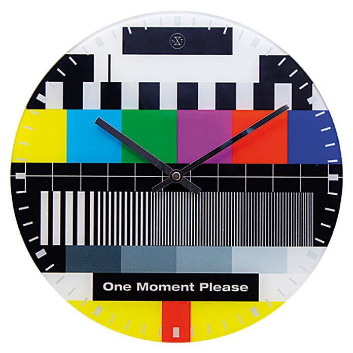 Wanduhr One Moment Please (Bunt, 30 cm)