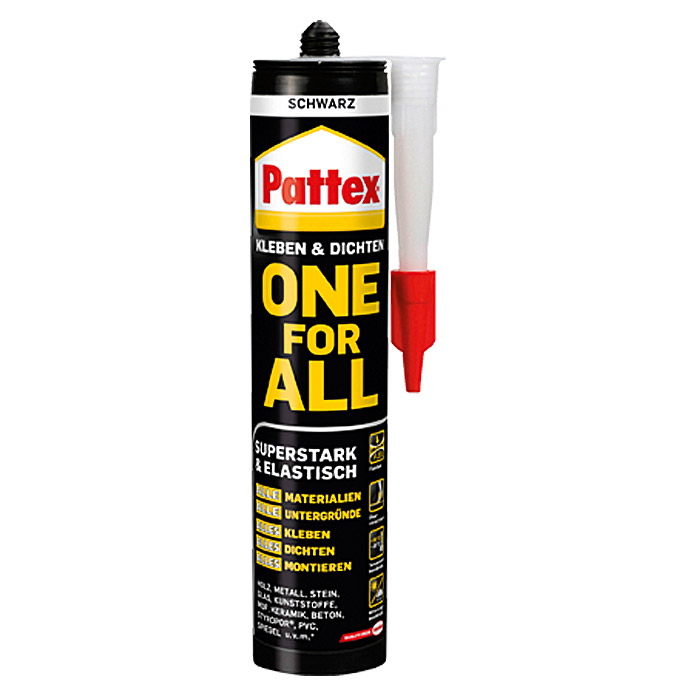 Pattex Montage-Kleber One for All (420 g, Schwarz)