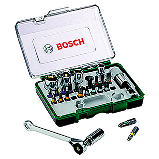 Bosch Set de puntas y carracas (27 piezas)