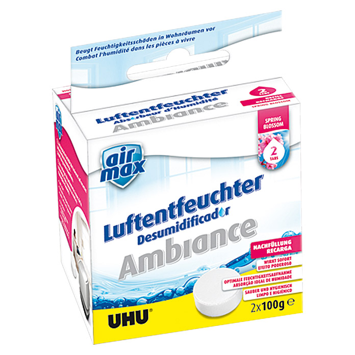 UHU air max Luftentfeuchter Tabs Spring Blossom (2 x 100 g)