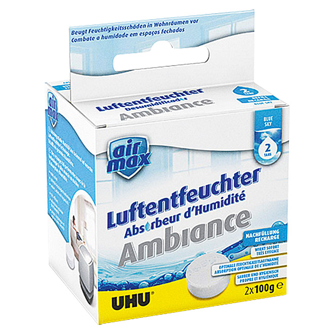 UHU air max Luftentfeuchter Tabs Blue Sky (2 x 100 g)