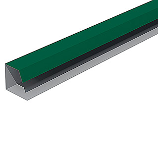 Isopan Perfil de remate lateral Isotego Verde (4 m x 30 mm x 30 mm, Acero)