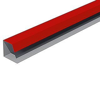 Isopan Perfil de remate lateral Isotego Rojo (4 m x 30 mm x 30 mm, Acero)