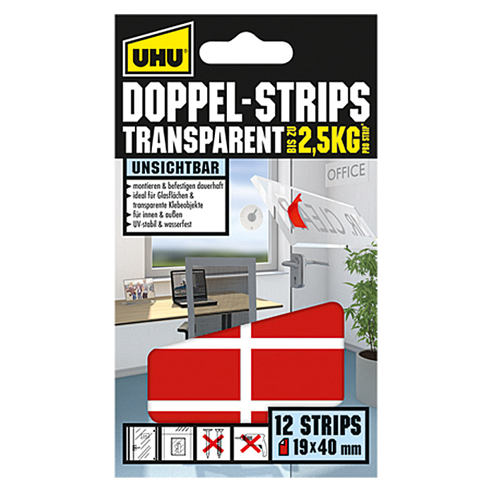 UHU Doppel-Strips Transparent