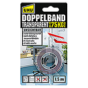 DOPPEL    BAND      TRANSPAR. 1,5MX19mm UHU