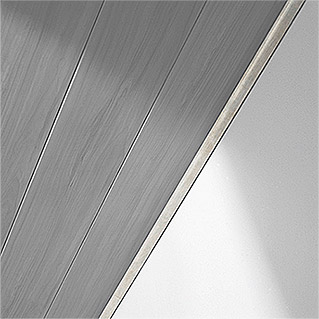 LOGOCLIC Abdeckleiste  (Metallic, 2,6 m x 25 mm x 6 mm)