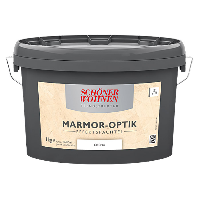 sch ner wohnen effekt spachtel marmor optik 1 kg creme 5901 null hadg null had. Black Bedroom Furniture Sets. Home Design Ideas