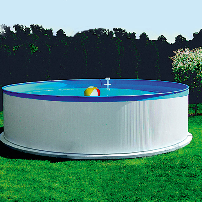 Poolset new splash fassungsverm gen 7 8 m h he 90 cm for Bauhaus poolset