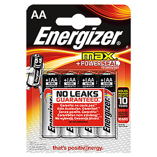 Energizer Batterie Max (Mignon AA, 4 Stk., 1,5 V)