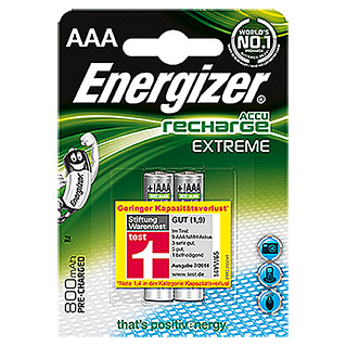 Energizer Akku Rechargeable Extreme (Micro AAA, 2 Stk., 1,2 V)