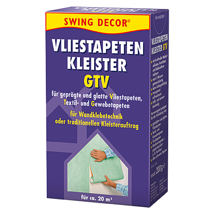 swing decor vliestapeten kleister gtv 200 g 6384. Black Bedroom Furniture Sets. Home Design Ideas