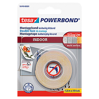tesa Powerbond Montageband Indoor (1,5 m x 19 mm)